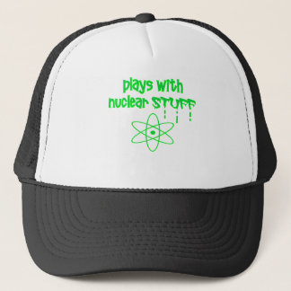 funny nuclear trucker hat