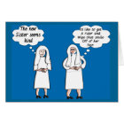 """Funny Nun Cards """"Good & Bad Thoughts"""""""