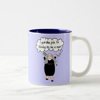 Funny Nun Cards Got The Job Gail Gabel Coffee Mugs