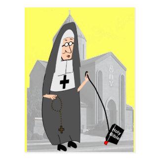 Funny Nun Greeting Cards Postcard