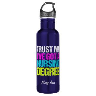 Funny Nurse Graduate 710 Ml Water Bottle