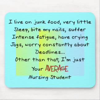 Funny Nursing Student Gifts Mousepad