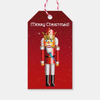 Funny Nutcracker King Cartoon Gift Tags
