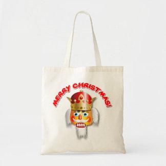 Funny Nutcracker King Xmas Cartoon Tote Bag