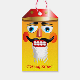 Funny Nutcracker Toy Soldier With Military Hat Gift Tags