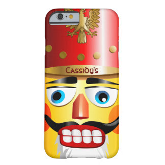 Funny Nutcracker Toy Soldier With Pointed Mustache Barely There iPhone 6 Case