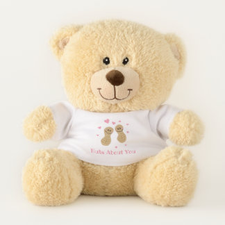 Funny Nuts About You Cute Peanuts In Love Food Pun Teddy Bear