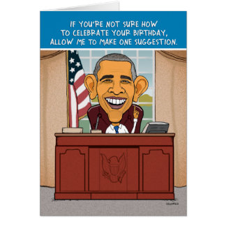 Funny Obama Birthday Card