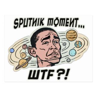 Funny Obama Sputnik Moment Postcard