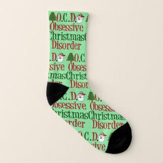 Funny Obsessive Christmas Disorder Socks