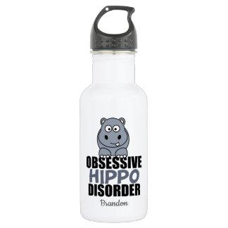 Funny Obsessive Hippo Disorder 532 Ml Water Bottle