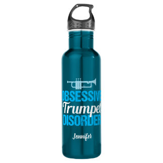 Funny Obsessive Trumpet Disorder 710 Ml Water Bottle