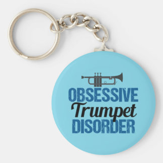 Funny Obsessive Trumpet Disorder Keychain