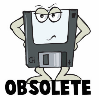 funny obsolete floppy disk photo cutout