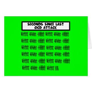 Funny OCD Greeting Card
