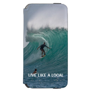 Funny Ocean Beach Surfing Incipio Watson™ iPhone 6 Wallet Case