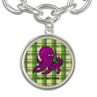 Funny Octopus Bagpipes Illustration Bracelets