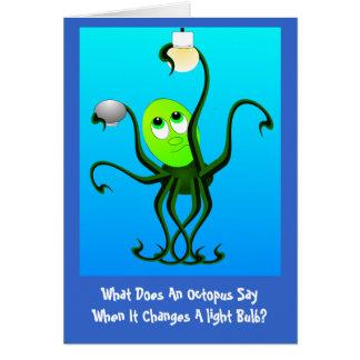 Funny Octopus Birthday Card
