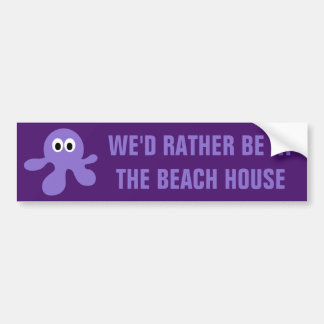 Funny Octopus custom text bumpersticker Bumper Sticker