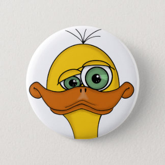 Funny Odd Duck Cartoon 2 Inch Round Button