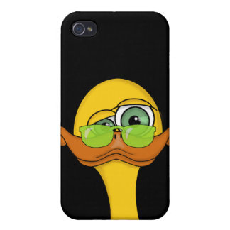 Funny Odd Duck Cartoon Cover For iPhone 4