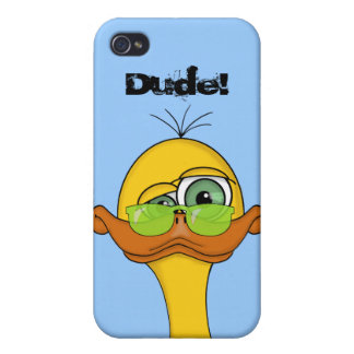 Funny Odd Duck Cartoon Covers For iPhone 4