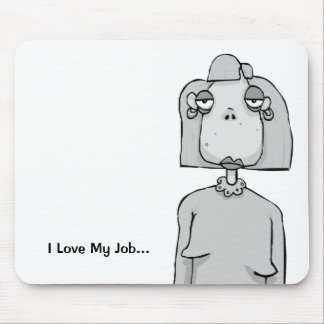 Funny Office Gift - Sarcastic Mouse Mat - Bored
