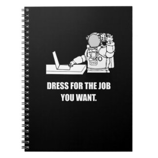 Funny Office Gifts, Nerd Gifts. Astronaut. Humor. Notebooks