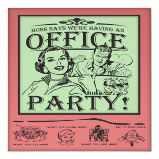 Funny Office Party Card