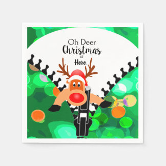 Funny Oh Deer Christmas is Here Paper Napkins