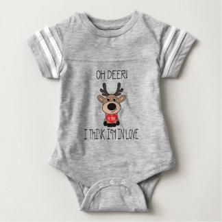 Funny Oh Deer Valentine's Day Baby Bodysuit