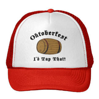 Funny Oktoberfest I'd Tap That Gift Mesh Hats