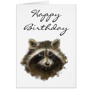 Funny, Old Age, Humor,  Birthday Raccoon Card