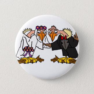 Funny Old Buzzard Wedding Cartoon Art 2 Inch Round Button