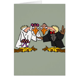 Funny Old Buzzard Wedding Cartoon Art Card
