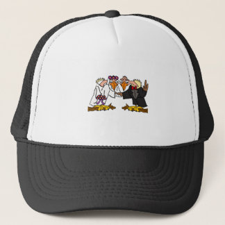 Funny Old Buzzard Wedding Cartoon Art Trucker Hat
