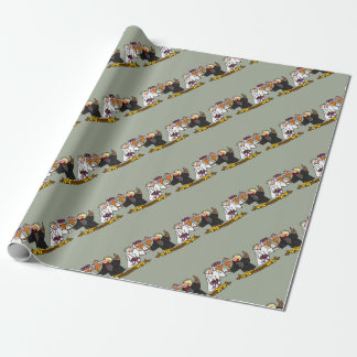 Funny Old Buzzard Wedding Cartoon Art Wrapping Paper