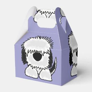Funny Old English Sheepdog Art Favor Box