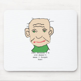 Funny Old Man Mouse Pad