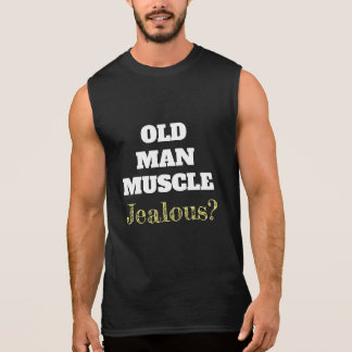 Funny Old Man Muscle Fitness Gym Shirt