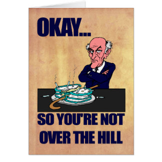 Funny Old Man Over the Hill | Happy Birthday Card
