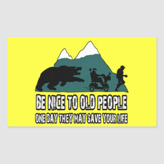 Funny old people sticker