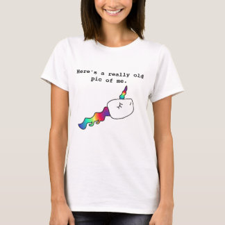 Funny Old Pic of Me Rainbow Unicorn Sperm Gift T-Shirt