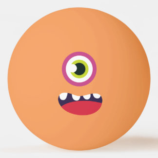 Funny One-Eyed  Cute Monster. Ping Pong Ball