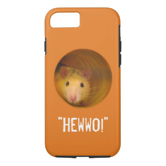 Funny Optical Illusion Rat in Hole iPhone 8/7 Case