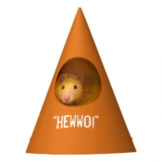 Funny Optical Illusion Rat in Hole Party Hat