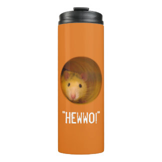 Funny Optical Illusion Rat in Hole Thermal Tumbler