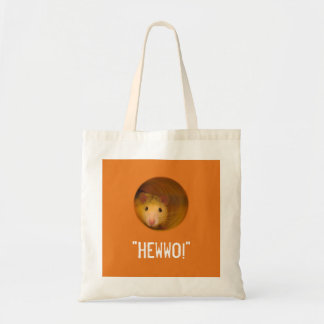 Funny Optical Illusion Rat in Hole Tote Bag
