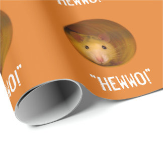 Funny Optical Illusion Rat in Hole Wrapping Paper