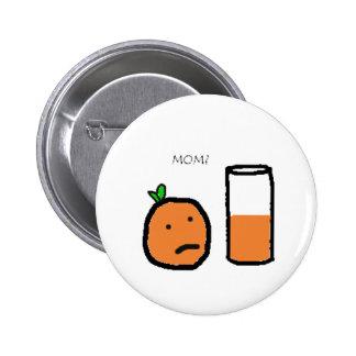 Funny Orange Button